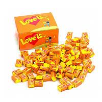 "Жевательная резинка ""Love is"" апельсин - 100 шт"