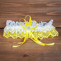 Свадебная подвязка ажурная (арт.G-009-1)