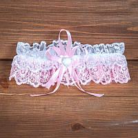 Свадебная подвязка ажурная (арт.G-003-1)