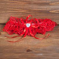 Свадебная подвязка краcная (арт.G-005)