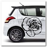 """Наклейка на автомобиль """"Роза"""", 1шт."""
