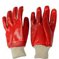 Перчатки рабочие МБС - масло бензо стойкие ПВХ красные
