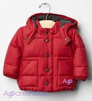 Gap Куртка красная на флисе на мальчика