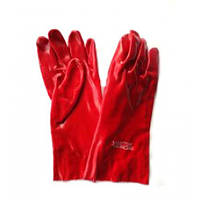 Перчатки рабочие МБС - масло бензо стойкие ПВХ длинные 35см на рукав