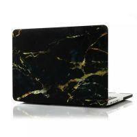 "Мраморный чехол Marble Black/Yellow для MacBook Pro 13"" Retina"