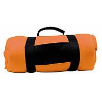 Флисовый плед Nashville 180x120 см, оранжевый, от 10 шт