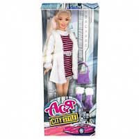 Кукла Ася Городской стиль Блондинка с аксессуарами 28 см (35067)