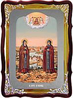 Икона Петр и Феврония для дома или храма