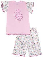 Детская пижама (футболка и шорты) (Розовый)