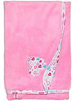 Детский плед (одеяло) (Розовый, сердце)