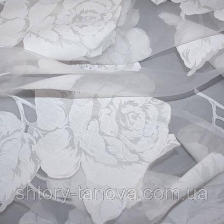 Органза с цветами купить на шторы