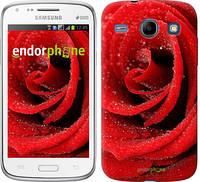 """Чехол на Samsung Galaxy Core i8262 Красная роза """"529c-88-6129"""""""