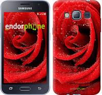 "Чехол на Samsung Galaxy J1 (2016) Duos J120H Красная роза ""529c-262-6129"""