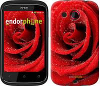 "Чехол на HTC Desire C A320e Красная роза ""529u-225-6129"""