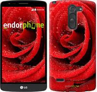 """Чехол на LG G3 Stylus D690 Красная роза """"529c-89-6129"""""""