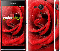 "Чехол на Sony Xperia SP M35H Красная роза ""529c-280-6129"""