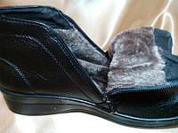 Ботинки женские из кожзама на низком ходу