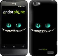 """Чехол на HTC One V t320e Чеширский кот """"689u-227-6129"""""""
