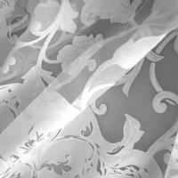Ткань для тюля цветы большие молочный испания