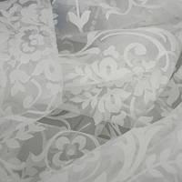 Ткань для тюля цветы белый испания