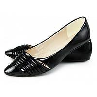 Балетки лодочки женские черные «Camelia» Турция, Черный, 38