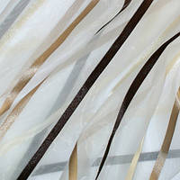 Тюль купить полоса беж/коричневый/молочный