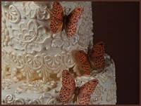 """""""Кружевной узор на торте с помощью молдов"""""""