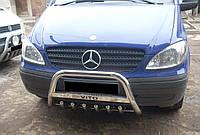 Кенгурятник Mercedes Vito с грилем и лого на перекладине