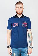 Поло мужское, тенниска, много цветов AG-0003768 Синий