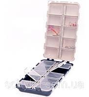 Коробка двойная Aquatech 20 ячеек  с крышками (для крюч., муш. и т.п.) 2420