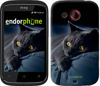 """Чехол на HTC Desire C A320e Дымчатый кот """"825u-225-6129"""""""