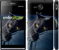 """Чехол на Sony Xperia SP M35H Дымчатый кот """"825c-280-6129"""""""