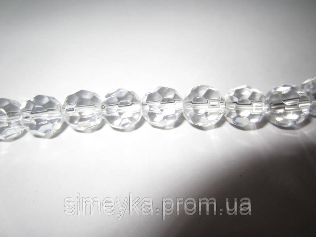 Бусина прозрачная гранёная, 8 мм, 10 шт./уп.