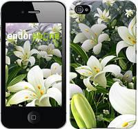 """Чехол на iPhone 4s Белые лилии """"2686c-12"""""""
