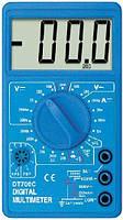 Мультиметр цифровой dt-700c, ручной переключатель пределов, щупы, термопара, питание 9в, фото 1