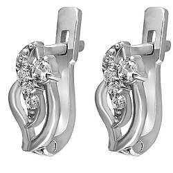 Сережки зі срібла з куб. цирконіями 177776