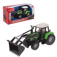 DICKIE Dickie Toys Трактор с фигуркой человека 25 см, зеленый (373 5002-3)