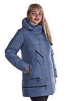 """Модная зимняя женская куртка с капюшоном. """"Джинс"""""""