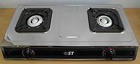 Плита газовая настольная двухконфорочная ST 63-010-12 + пьезоподжиг