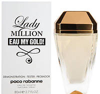 Tester Paco Rabanne Lady Million Eau My Gold edt 80ml