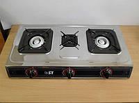 Плита газовая настольная трехконфорочная ST 63-010-14 + пьезоподжиг