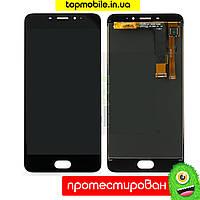 Модуль Meizu M3e (A680H) (дисплей + touchscreen) черный-белый  HC