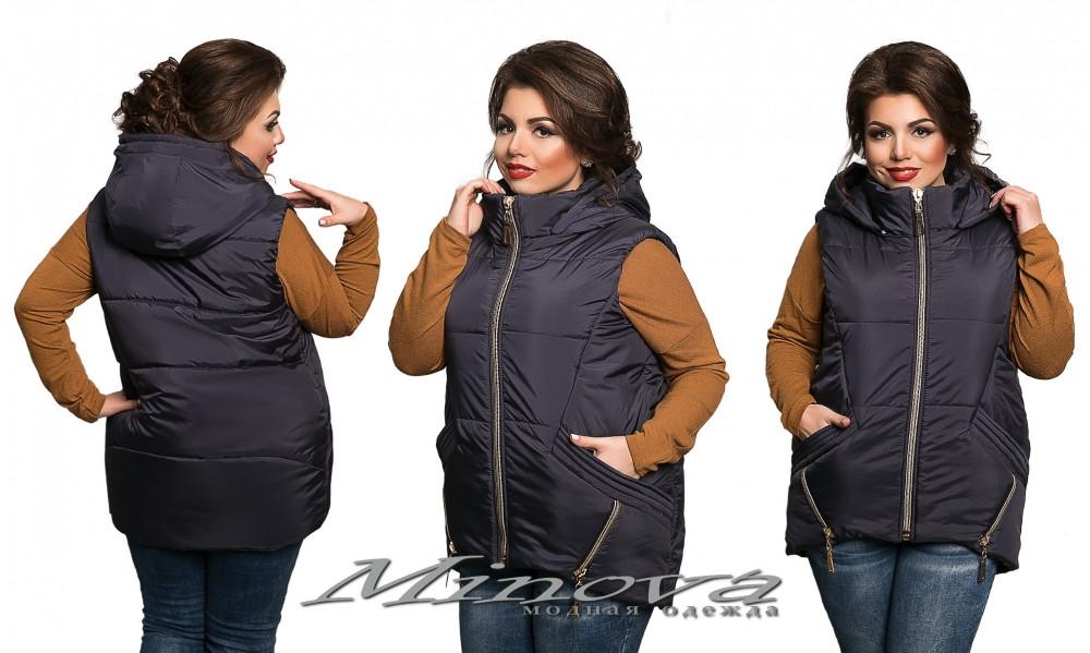 Жилетка женская №511-темно-синий -  «Минова-Фабрика мод» Интернет-магазин одежды. в Одессе