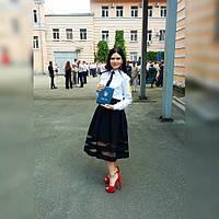 Юбка ГАБАРДИН И СЕТКА  р 42, 44, 46, 48, 50, фото 1