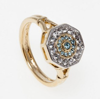 """Кольцо """"Амсто"""" с кристаллами Swarovski, покрытое золотом с родием (h800q040)"""