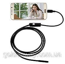 Эндоскоп Бороскоп Ø 8 мм HD 720p длина кабеля 1м, Android и ПК IP67 веб камера, водонепроницаемый с зеркалом