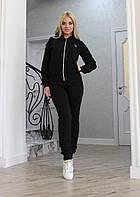 Костюм спортивный Ткань: турецкая двунитка, вставки бархат муар Цвета: серый, синий, черный ао №297-300