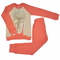 Пижама для девочки молочно-персиковая Ля-Ля