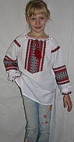 Вышиванка  для девочки 122-158 см, лен, Киев