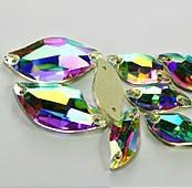 3254 Diamond Leaf 20x9 mm, Crystal AB (001 AB)